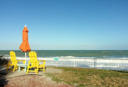 Humiston Beach in Vero Beach, looking rather green, 11/22/12