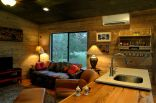 Reclaimed materials give this cabin the rich patina of age. The cabin has one bedroom in 640 sq ft.   www.facebook.com/SmallHouseBliss
