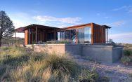 The Marfa weeHouse, a compact but luxurious desert retreat. The modern prefab has a 440 sq ft studio floor plan. | www.facebook.com/SmallHouseBliss