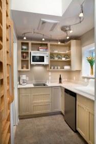 This little backyard cottage feels spacious despite a floor plan of just 340 sq ft plus a loft. | www.facebook.com/SmallHouseBliss