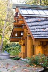"""The Totems"" is a small log cabin with an almost mystical quality. It has 400 sq ft plus a sleeping loft. 