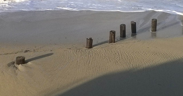 Pier Posts on Beach Miramar CA