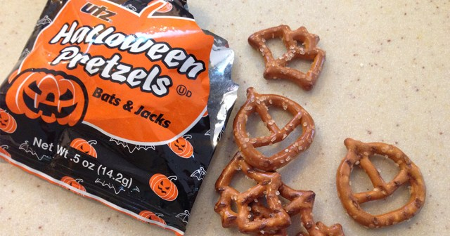 Halloween Bats and Jacks Utz Pretzels