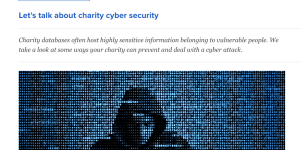 cyber security for charities