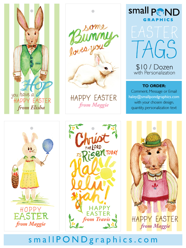 print shop . 2015 Personalized Easter Tags