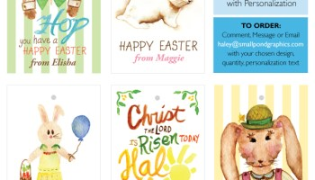Print shop personalized easter gift tags small pond graphics 2015 personalized easter tags negle Images