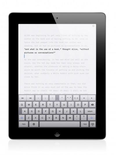 iA Writer's focus mode on iPad.