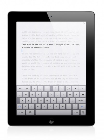 iA Writer's focus mode on iPad.