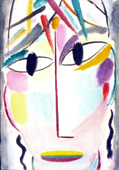 Elongated Head A, 1920 by Alexej Jawlensky.© 2018 Long Beach Museum of Art.