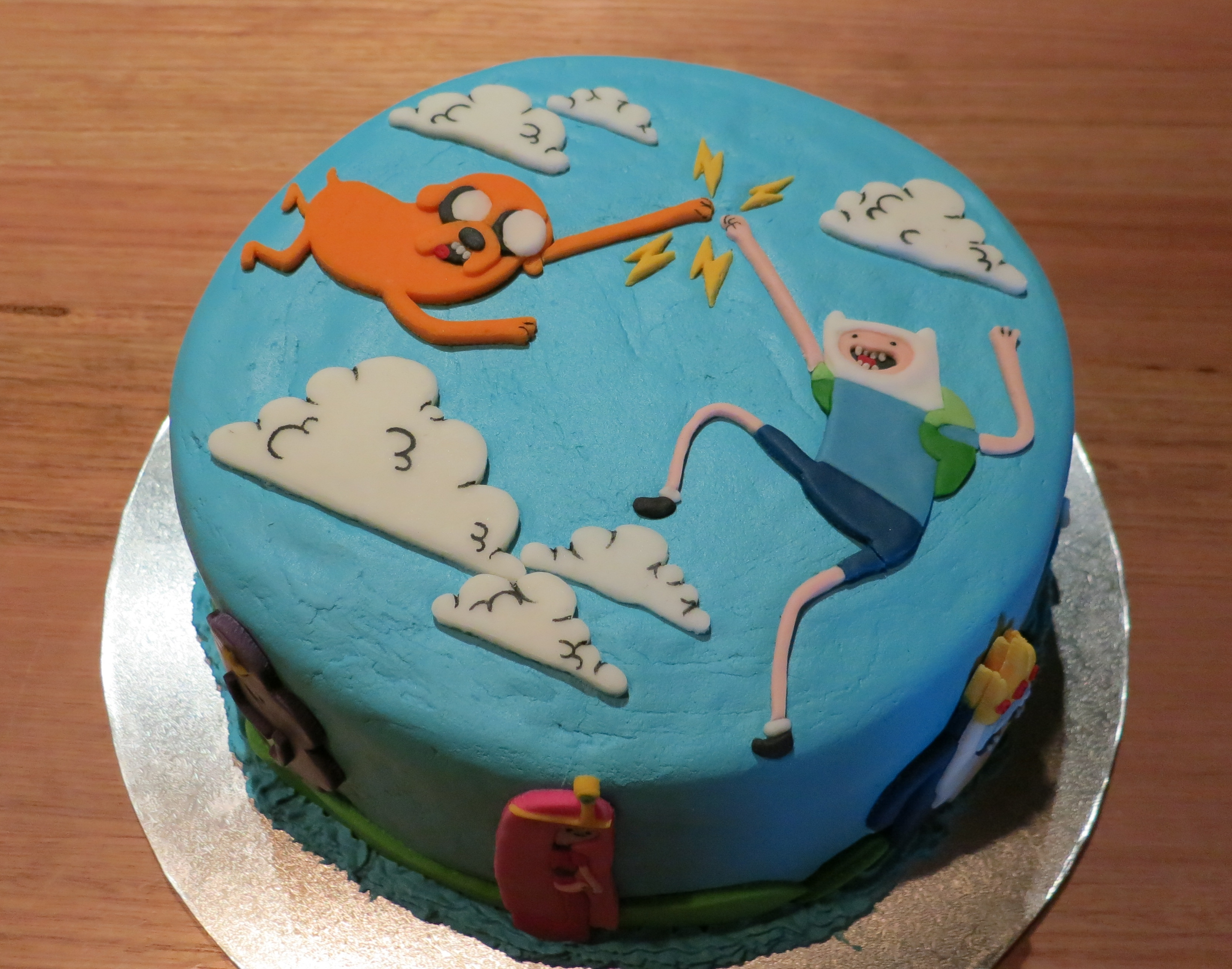 Adventure Time Cake Part One The Finished Cake Small Red Star
