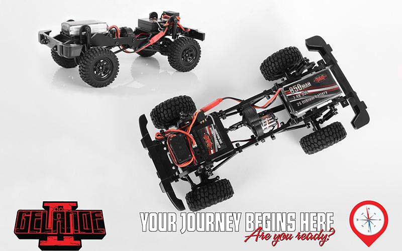 RC4WD Gelande II Black Rock - Chassis