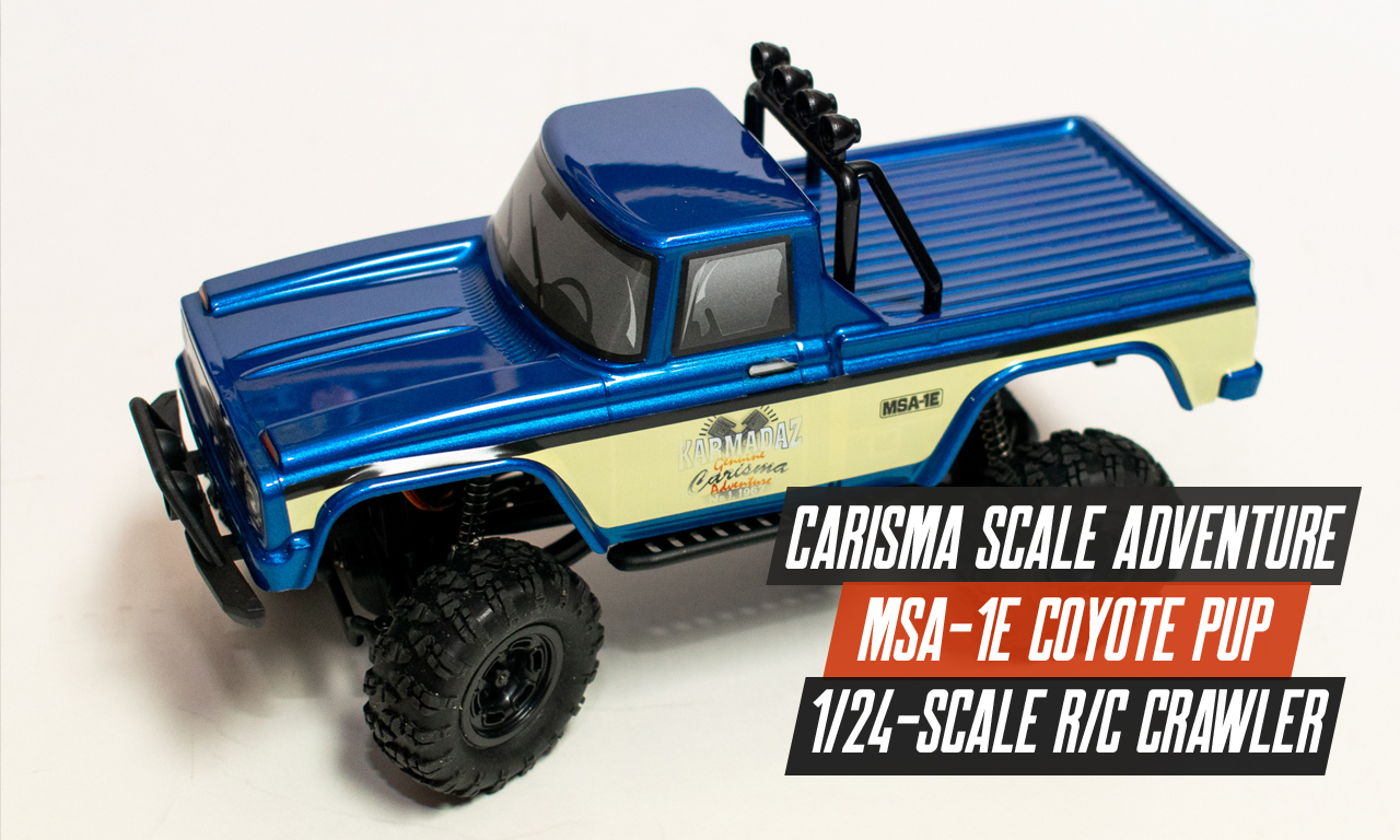 A Quick Indoor Drive with the Carisma Scale Adventure Coyote Pup [Video]