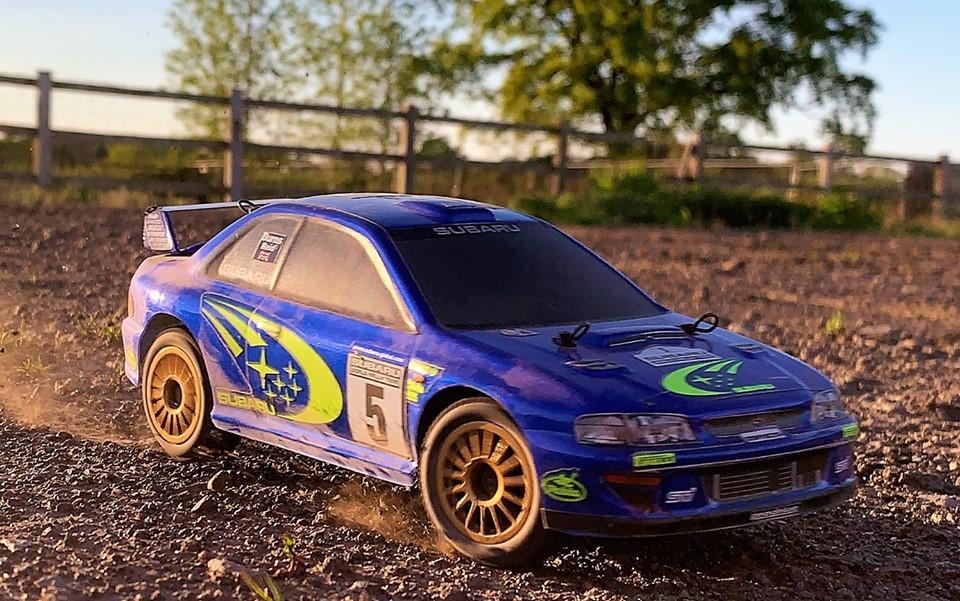 Carisma Small-scale Subaru Rally Car - Action