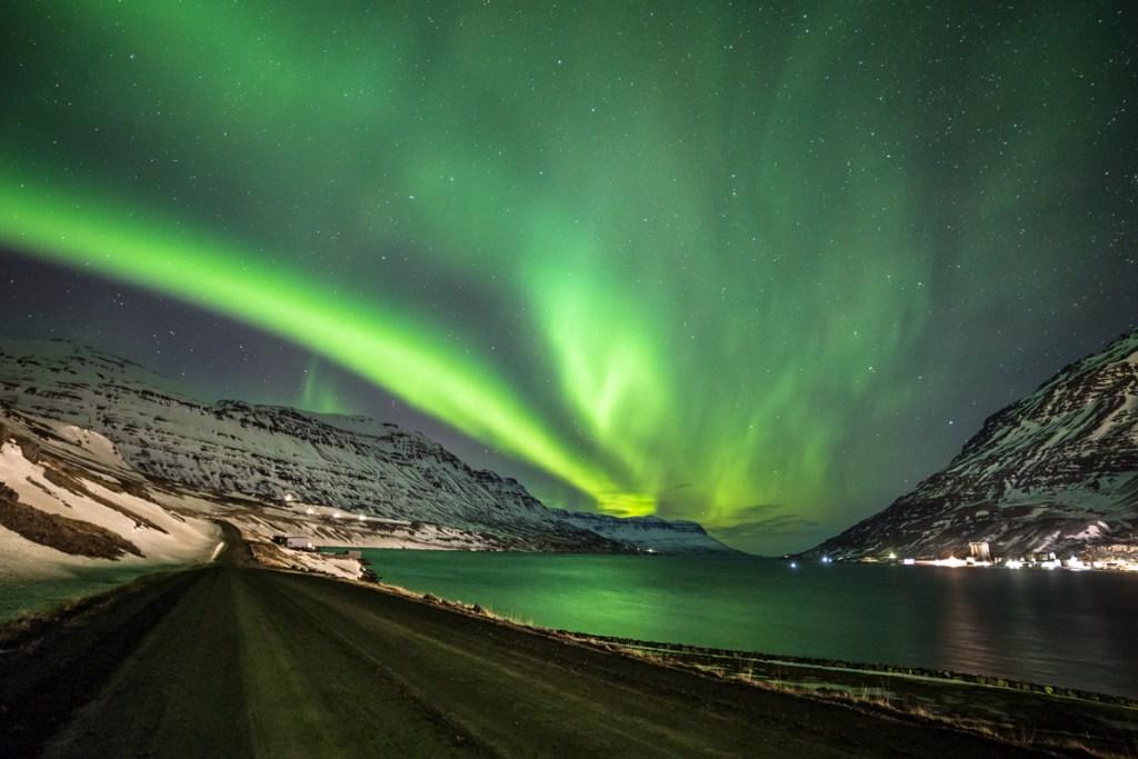 Aurora-boreale-Seydisfjordur
