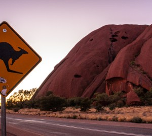 uluru-australia-road-sunset