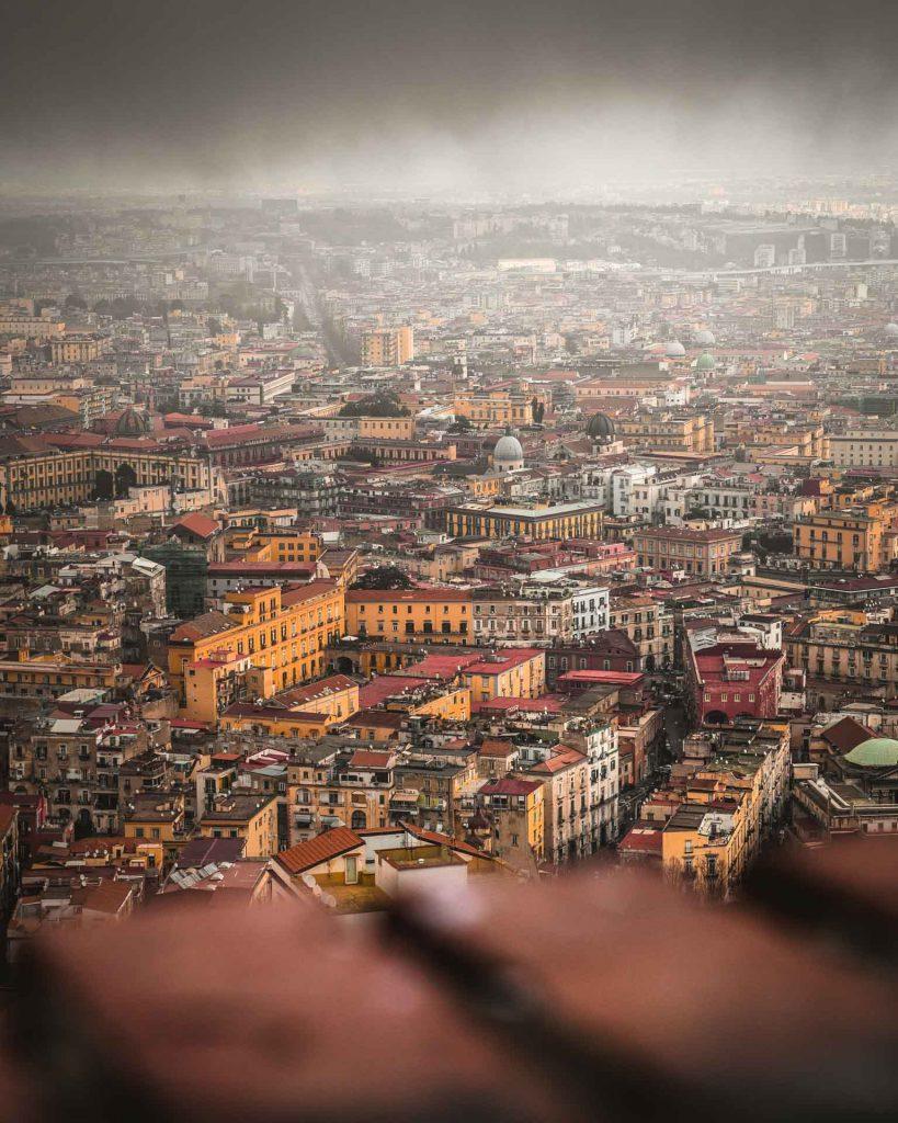 Napoli dall'alto castel Sant'Elmo