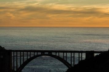 Coast road sunset
