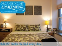 Organizing My Apartment    {7 Rules For The Bedroom)
