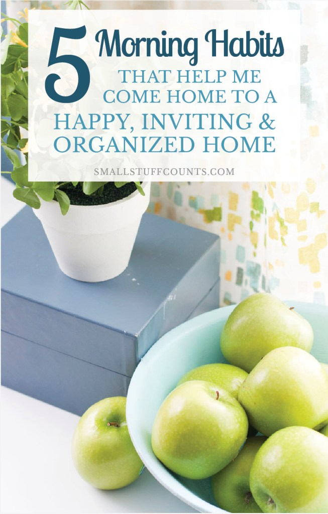 I really need to follow these tips in my daily routine! Such easy morning habits to maintain an organized home.