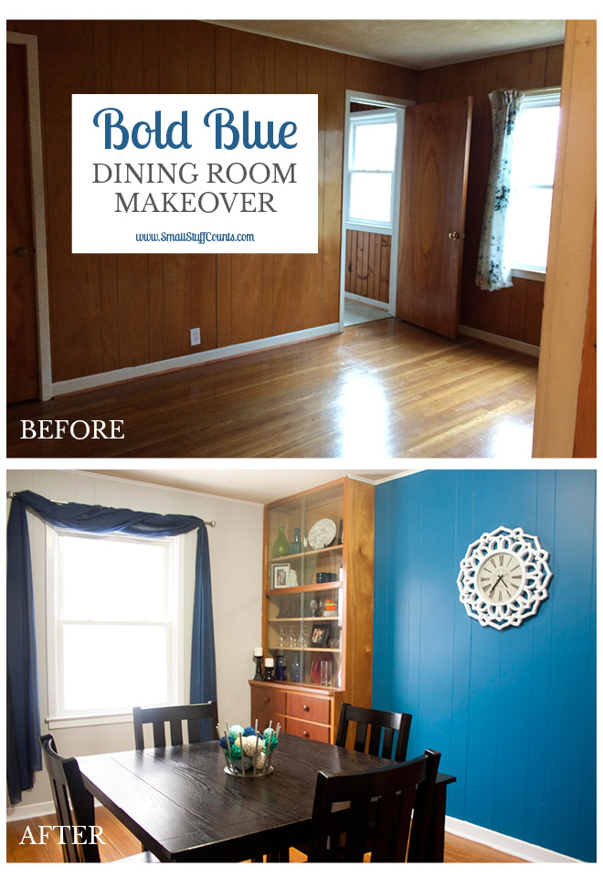 Bold Blue Dining Room Title