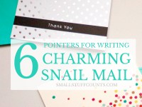 6 pointers for writing charming snail mail