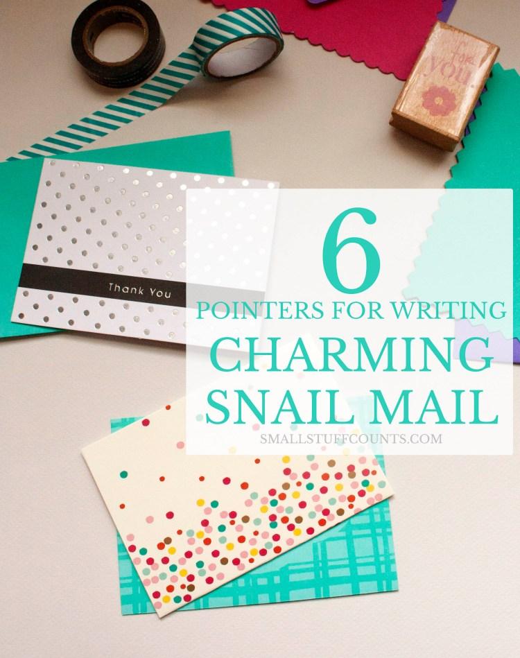 write charming snail mail