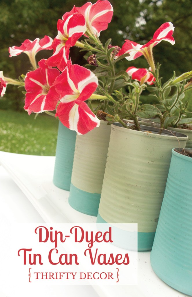 Dip Dyed Tin Can Vases 2
