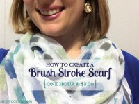 How To Create A Brush Stroke Scarf