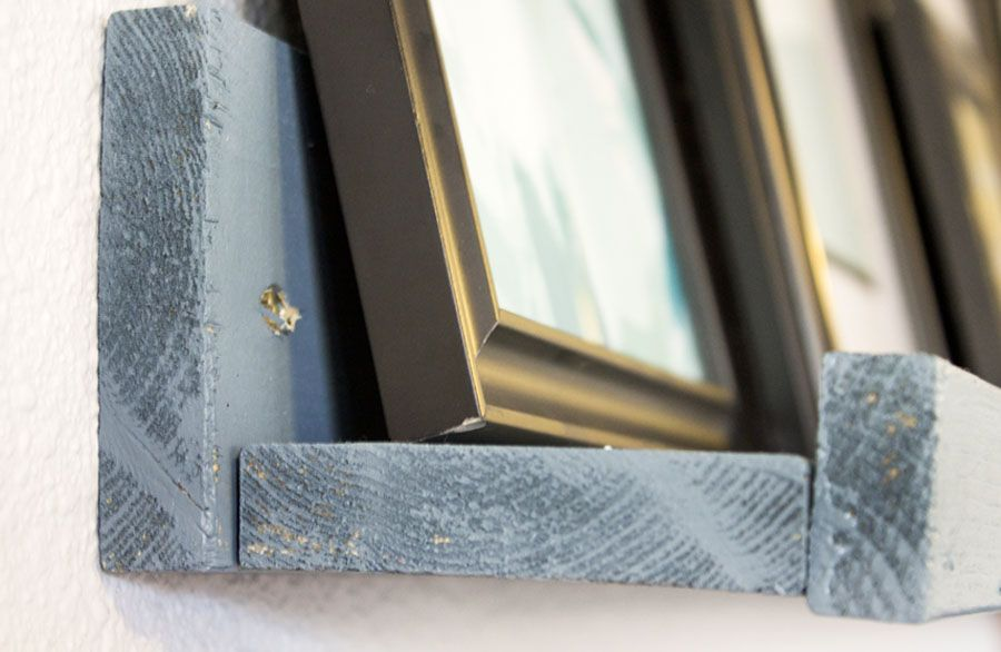 Take a look at this DIY picture ledge!