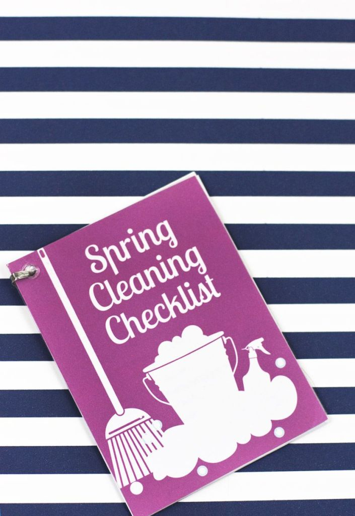 What a super helpful not to mention free printable spring cleaning checklist!