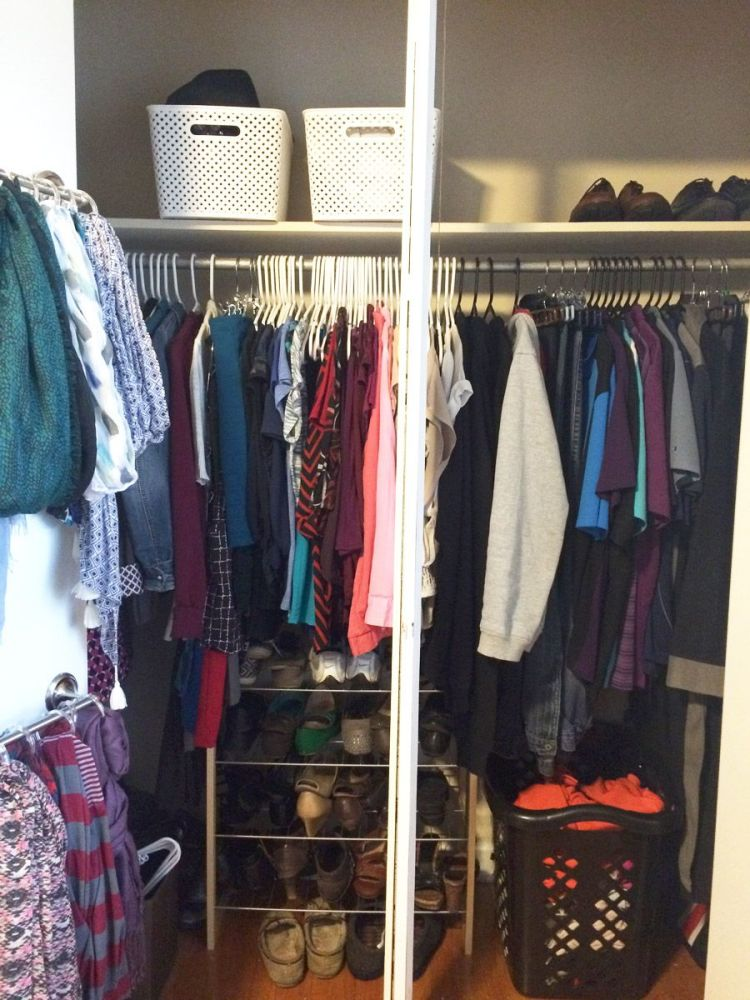 Wow! She went all out organizing her clothes following the KonMari Method. Look at that heap of clothing! It's amazing to see how much more organized her clothes in both her closet and dresser are now. Totally need to do this myself.