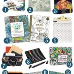 Yes! A list of adult coloring book gift ideas! If you know someone obsessed with adult coloring, this gift guide has great ideas for books and accessories.