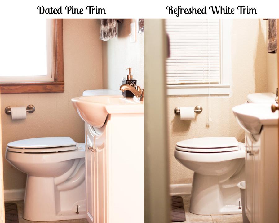 Bathroom Pine Vs White Trim