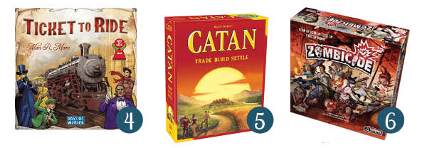 collage of images of best adult board games