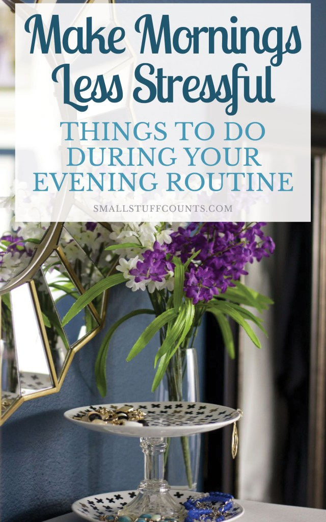 Here's some great ideas of things to do during your evening routine! I love these practical ideas for saving time and getting ahead before stressful mornings.