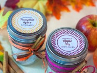 Easy Fall DIY Bath Salts Gift Idea ~ Pumpkin Spice & Apple Pie