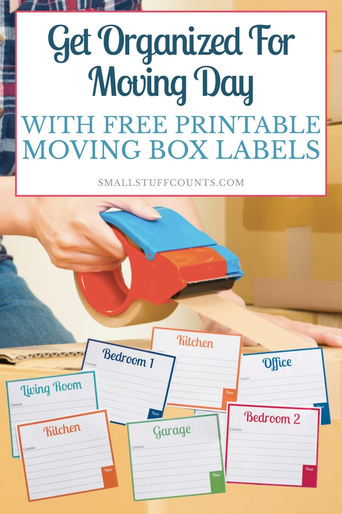 Finally, some pretty labels for moving boxes! These free printable labels will be a HUGE help in organizing our upcoming move.