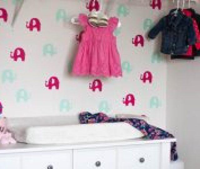 Diy Temporary Wallpaper For The Nursery