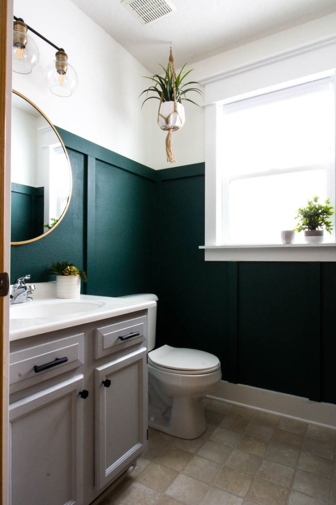green-bathroom-with-board-and-batten