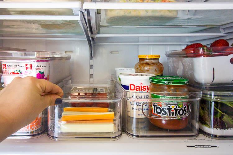 organized-refrigerator-with-storage-bins