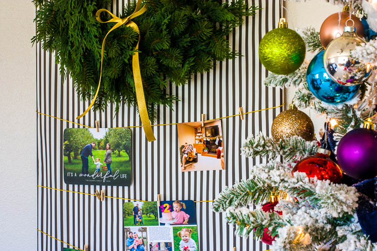 modern-diy-christmas-card-holder-next-to-tree