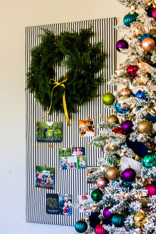 modern-diy-christmas-card-holder-next-to-tree