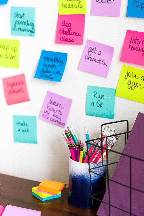 goal-setting-brainstorm-with-post-its-on-wall