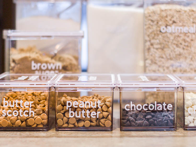 chocolate-chips-in-clear-containers-with-labels