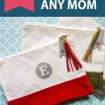 makeup bags with text overlay of mother's day gifts