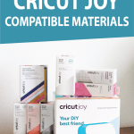 graphic: the full list of cricut joy compatible materials
