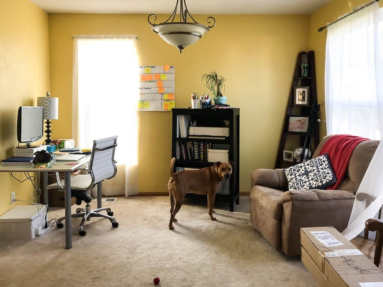 front room office before