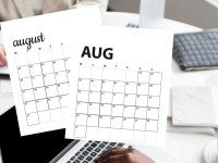 Free August 2020 Calendar Printables | Sunday And Monday Start