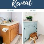 before and after photos of bathroom vanity