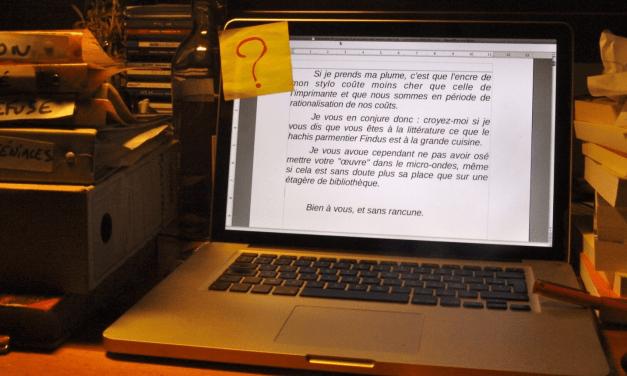 Jean-Fabien – Le journal d'un écrivain sans succès